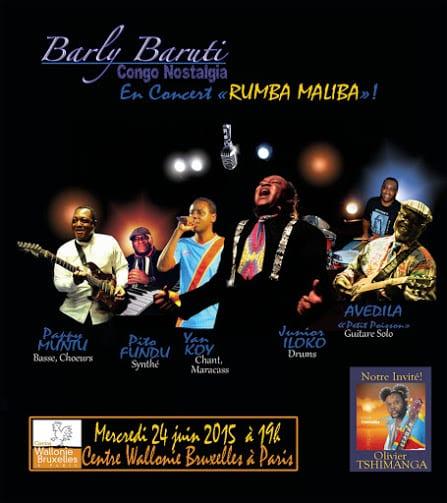 Concert 24 juin : Barly Baruti & Congo Nostalgia