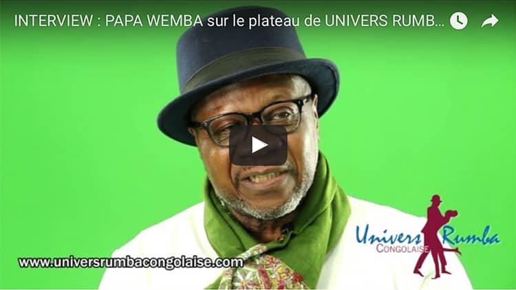 Interview exclusive de Papa Wemba sur le plateau d'Univers Rumba Congolaise